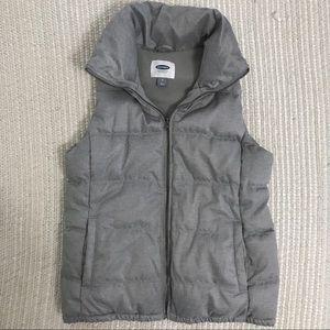 Old Navy Heather Gray Puffer Vest